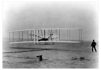 The Wright Brothers First Flight - Photo by John T. Daniels