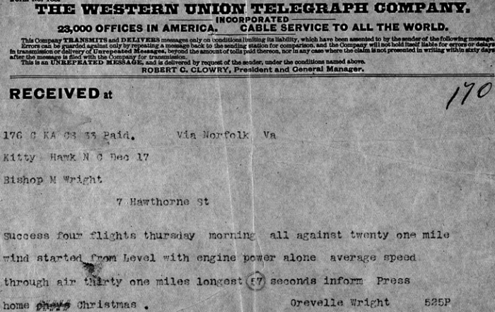 Wright_Brothers telegram