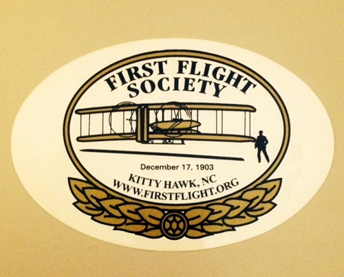 First flight society sticker