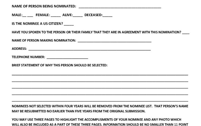 2022 NOMINATION FORM